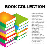 Isolated colorful books collection vector logo. School logotype. Royalty Free Stock Photo
