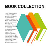 Isolated colorful books collection vector logo. School logotype. Stock Image