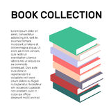 Isolated colorful books collection vector logo. School logotype. Stock Photos