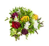 Isolated colorful bouquet of flowers royalty free stock photos