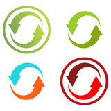 4 isolated colorful icons for recycle (or infographic) Stock Photo