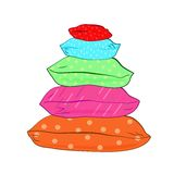 Isolated colorful pillows-vector illustration Stock Images
