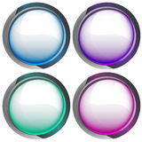 Isolated colorful webdesign button series  Stock Images