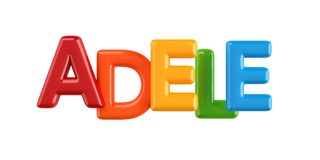 Isolated colorfull 3d Kid Name balloon font Adele. Colorfull 3d Kid Name balloon font Louis on white background Royalty Free Stock Photos