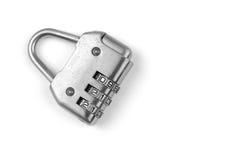 Isolated combination lock Stock Image