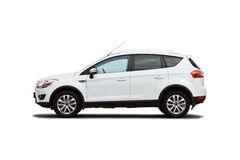 Isolated compact suv royalty free stock photos