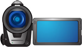 Isolated compact video camera Royalty Free Stock Photography
