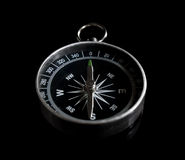 Isolated compass on black Stock Photo