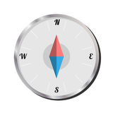 Isolated Compass on white background, Vector Illustration Stock Image