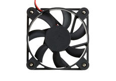 Isolated computer fan Stock Image