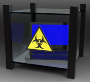 Isolated computer virus Stock Photography