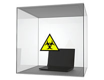 Isolated computer virus Stock Images