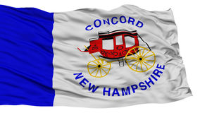 Isolated Concord Flag, Waving on White Background Royalty Free Stock Photos