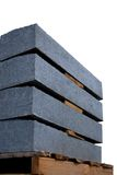Isolated concrete panels royalty free stock photography