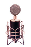 Isolated Condenser Microphone Royalty Free Stock Photography