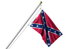 Isolated Confederate Flag Stock Photo