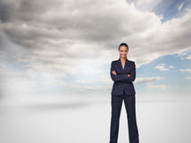 Isolated confident businesswoman smiling at the camera Royalty Free Stock Photos