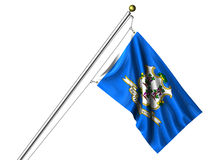 Isolated Connecticut Flag Royalty Free Stock Photo