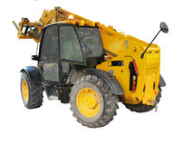 Isolated construction vehicle Stock Photos