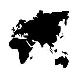Isolated continents of planet design Stock Photography