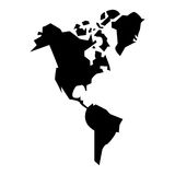 Isolated continents of planet design Royalty Free Stock Image