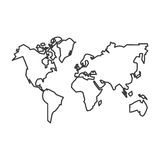Isolated continents of planet design. Continents of planet icon. Earth world map and cartography theme. Isolated design. Vector illustration Royalty Free Stock Image