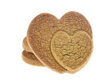 Isolated cookies with connected heart pattern Stock Photo