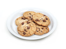 Isolated cookies on plate. Stock Photography