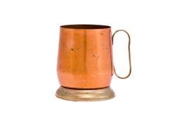 Isolated copper mug souvenir. Isolated on white copper mug souvenir Stock Photos