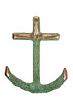 Isolated Copper Ship Anchor Royalty Free Stock Image