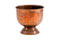 Isolated copper vase Royalty Free Stock Photo
