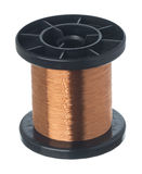 Isolated copper wire coil Stock Image