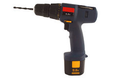 Isolated cordless drill Royalty Free Stock Photo