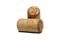 Isolated corks on white background Royalty Free Stock Images