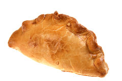 Isolated cornish pasty meat pie