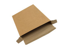 Isolated corrugated kraft paper box Stock Images