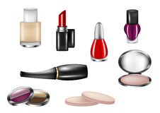 Isolated Cosmetics. Isolated selection of cosmetics on white background Stock Images