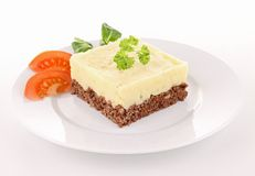 Isolated cottage pie Royalty Free Stock Photos