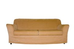 Isolated Couch. Picture of a light brown couch isolated on white Royalty Free Stock Photo
