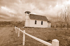 Isolated Country Chapel in Winter Royalty Free Stock Images
