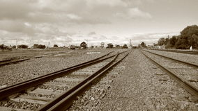 Isolated country railway siding Royalty Free Stock Images