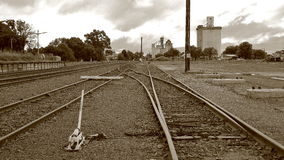Isolated country railway siding Stock Image