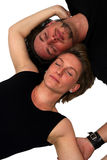 Isolated couple sleeping Stock Photos