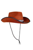 Isolated cowboy hat with strap Stock Photo