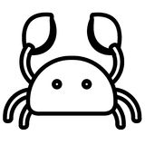 Isolated crab icon. Image. Vector illustration design Stock Photo