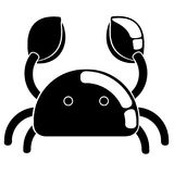 Isolated crab icon. Image. Vector illustration design Stock Image