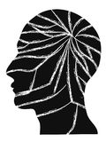 The crack people head vector. Isolated the crack people head vector on white background Stock Photos