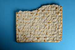 Isolated cracker. Isolated view of cracker in blue background Royalty Free Stock Photography