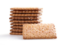 Isolated crackers Stock Photography