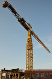 Big crane on site Royalty Free Stock Images